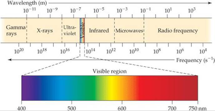 FIGURE 64 The Electromagnetic Spectrum Wavelengths In Range From Very Short Gamma Rays To Long Radio Waves