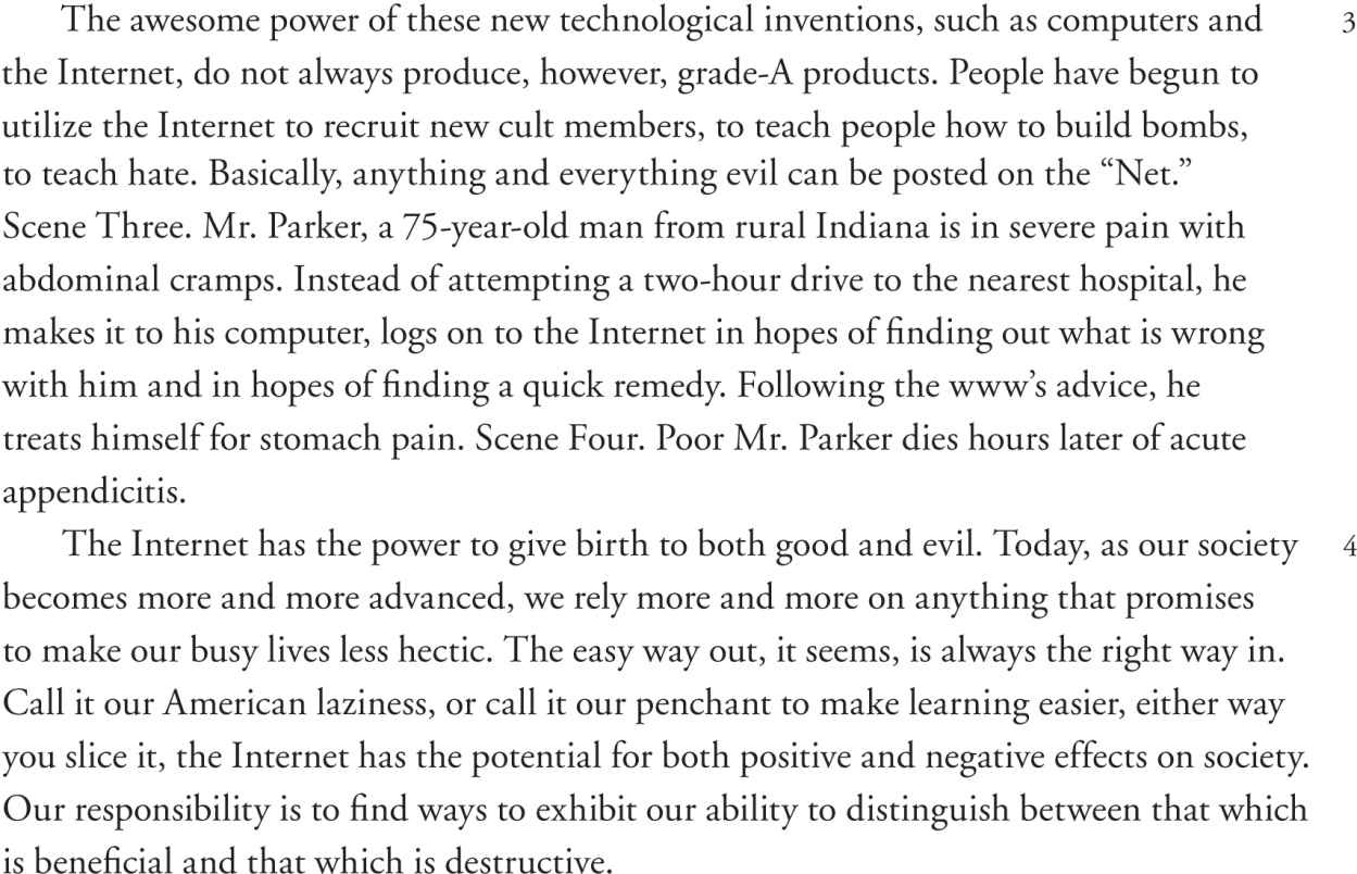 argumentative essay newton minow