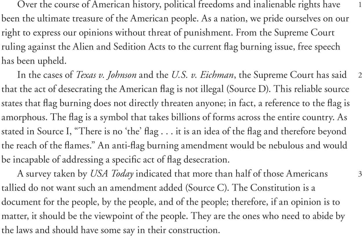 flag burning freedom of speech essay